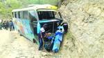 Un bus se precipita en Poroma y deja a pasajeros heridos