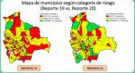 Coronavirus: 71 municipios en la zona de alto riesgo en el país, 52 menos que la semana pasada