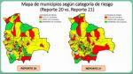 Bolivia: otros 22 municipios pasan a la zona de alto riesgo y el total sube a 93
