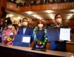 """Arce y Choquehuanca dicen que """"no hay plata"""" y no descartan reducir ministerios"""
