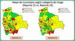 Covid-19: El número de municipios en riesgo alto se reduce de 58 a 43 en Bolivia