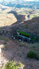 Potosí: Un bus de la empresa San José se embarranca en la ruta entre Ravelo y Ocurí