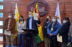 CC presenta recurso en contra de Arce por sustituir el escudo por la Cruz Chacana