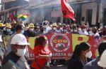 El Gobierno y la COB conmemoran el Día del Trabajo con una marcha en Santa Cruz