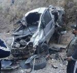 Mueren cinco funcionarios de la Gobernación de Potosí en un accidente de tránsito