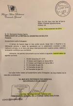 Revuelo político en Argentina por denuncia de falsedad de la carta sobre envío de material antidisturbios