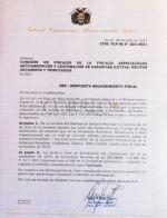 Conoce la carta que el TCP envió a la Fiscalía sobre la sucesión de Áñez, ratificando que no emitió fallo