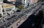 """Cooperativistas activan bloqueo de las """"mil esquinas"""" en el centro de La Paz; piden una reunión con Arce"""