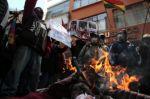 Familiares de víctimas de Sacaba y Senkata protestan en La Paz