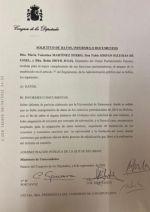 Diputados de PP de España piden información sobre pericia de Salamanca a Ministerio de Universidades