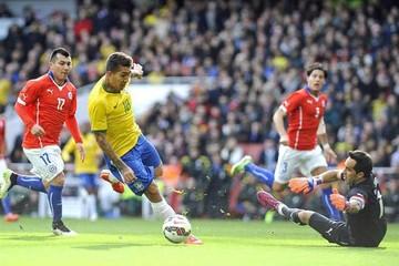 Brasil vence a Chile en un cotejo amistoso