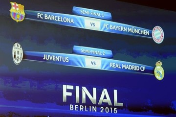 Champions: Barcelona-Bayern y Juventus-Real Madrid, cruces de semifinales