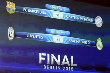 "Barcelona-Bayern y Juve-Real Madrid son las ""semis"" europeas"