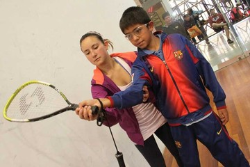 Raquetbol motiva a niños