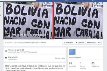 """Llamado a manifestación pro """"Mar para Bolivia"""" en Antofagasta genera polémica"""