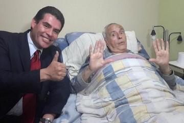 David Santalla ya bromea tras cinco días de dejar el hospital