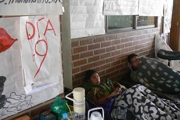 Estudiantes llegan a  noveno día de huelga