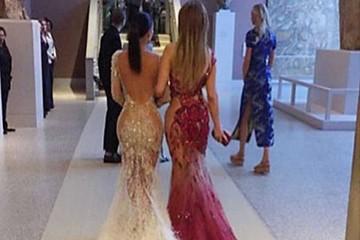 Kim Kardashian  y JLo desafían con ardiente selfie