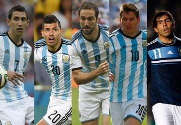 Aguëro, Tévez o Higuaín acompañará a Messi y Di María