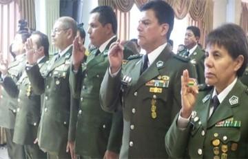 Tres generales y cuatro coroneles son posesionados en Alto Mando Policial