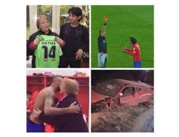 Los memes más vistos luego del accidente de Vidal