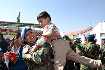 """""""Cascos azules"""" bolivianos fueron licenciados con honores"""