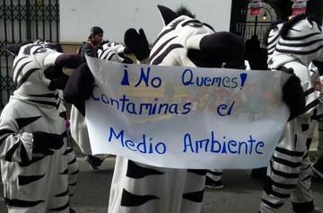Una marcha insta a los pobladores a evitar contaminación en San Juan