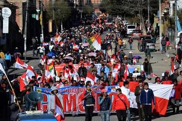 La marcha de los  cívicos de Potosí está en El Alto