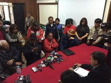 Comcipo y Gobierno pactan diálogo para las 14:00 de hoy