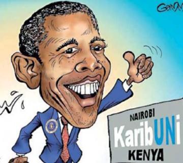 Caricaturizan  visita de Obama a  países africanos