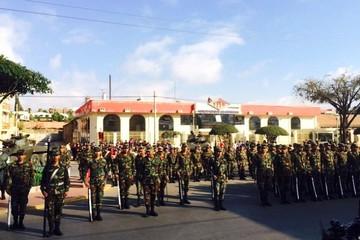 Sucre ya vive los festejos patrios con ensayo de la parada militar