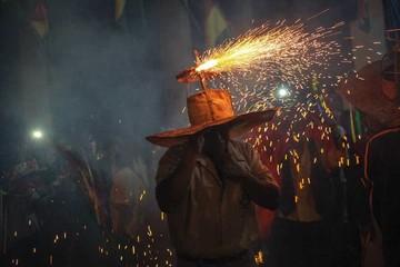 """La """"fiesta del fuego"""" en San Ignacio de Moxos"""