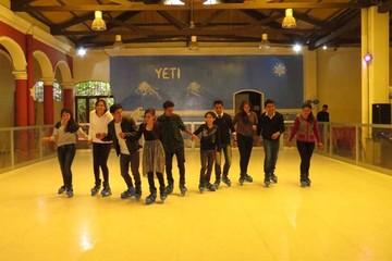 Pista de patinaje sobre hielo invita a la diversión en grupo