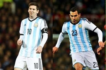 Messi-Tevez en la delantera