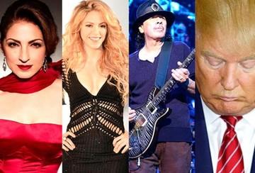Shakira, Santana y Gloria Estefan cantarán una canción contra Donald Trump