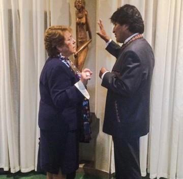 Evo y Bachelet trasladan a la ONU el diferendo marítimo