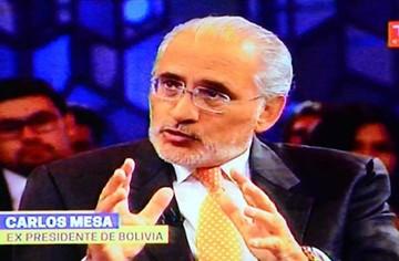 Mesa defiende causa marítima en TV Chile
