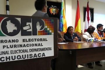 TSE: Vocales del TDE Chuquisaca ya fueron notificados con el proceso en su contra