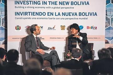Morales ofrece en EEUU seguridad jurídica y estabilidad económica