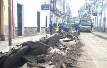 Retoman obras de recapado en calles del centro histórico