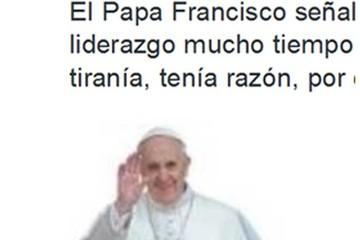 CEB rechaza uso de la imagen del Papa para fines políticos