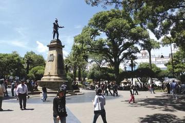 La plaza 25 de Mayo, el lugar de encuentro