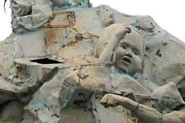 Estatua que Evo regaló está deteriorada