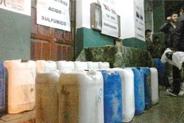 Decomisan marihuana y ácido sulfúrico en Sucre
