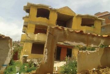 Deslizamiento en barrio San Luis no tiene freno