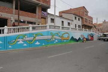 Entregan en Sucre mural de heroína Juana Azurduy