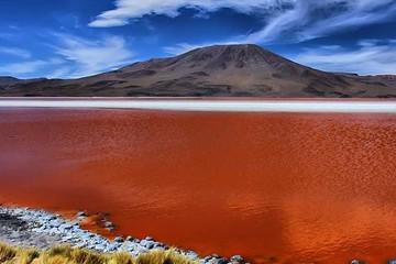 Laguna Colorada pierde un 40% de su extensión