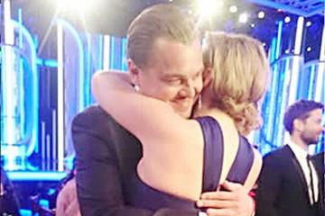 Reencuentro de Leonardo DiCaprio y Kate Winslet en los Globos de Oro