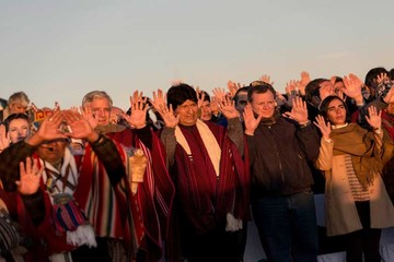 Morales celebró en Tiahuanaco y hoy repasa sus principales logros