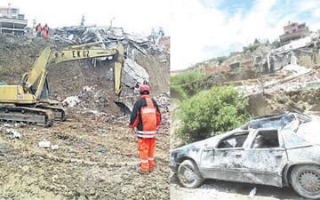 Deslizamiento en La Paz  deja a 11 familias sin casa